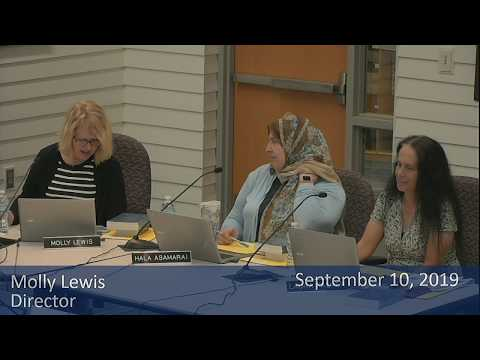 School Board Meeting September 10, 2019