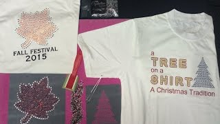 Making Rhinestone T Shirts and Decals - Fall and Christmas Tree