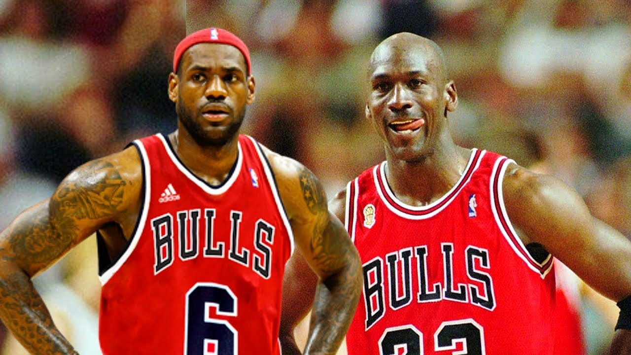 0a5a1dca33a LeBron James Meets Michael Jordan In 1995–96 - YouTube