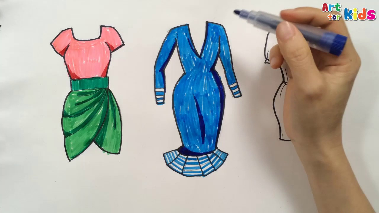 f361f9fef7c How to draw fashion clothes for kids