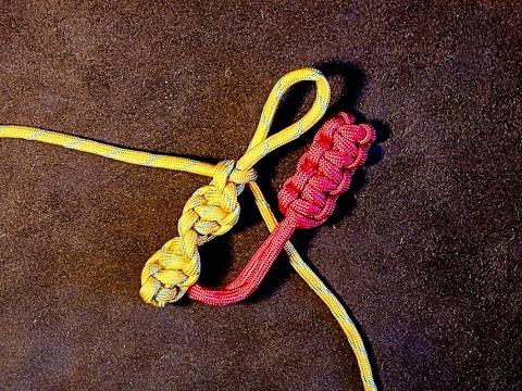 Portuguese Flat Sennit & Spiral Sennit - How to Make Zip Pull or Key Fob 🔔
