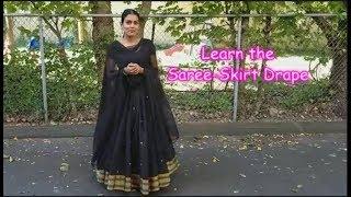 How to drape Saree as a Skirt