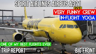 [TRIP REPORT] BEST CREW EVER Spirit Airlines Airbus A321 (Big Front) New York La Guardia - Chicago