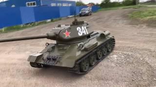 Большой радиоуправляемый танк Т34-85 масштаб 1:2.2 Часть 2