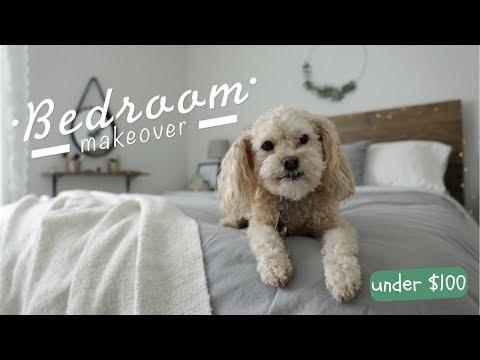 DIY BEDROOM MAKEOVER REVEAL! | Under $100!!