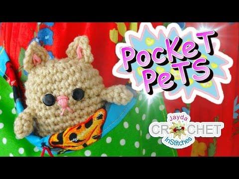 Crochet Kitten Cat Pattern Jaydas Pocket Pets Youtube