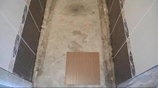 Облицовка пола в туалете ч.1(В ролике показано как сделать раскладку плитки на полу в туалете,какие мелочи,но очень важные,для этого..., 2014-06-15T06:45:06.000Z)