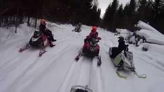 Путешествие на снегоходах 14 февраля 2015(14 февраля 2015 года совершили короткий пробег на снегоходах по московской области, проехались уже по известн..., 2015-02-18T07:16:50.000Z)