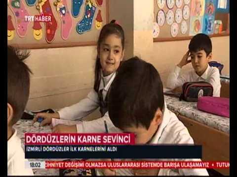 İzmir Gaziemir Gazikent Ilkokuludördüzlerin Karne Sevinci