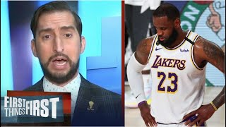 """Nick Wright SHOCKED Lakers collapse to Nuggets 114-106 in Game 3 despite LeBron """"triple-double"""""""