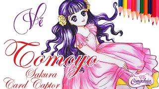 Cách Vẽ Tomoyo - Sakura Thủ lĩnh thẻ bài (Tomoyo Daidouji)