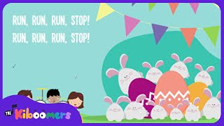 10 Easter Bunnies | Easter Song Lyrics for Children | Easter Bunny Song for Kids