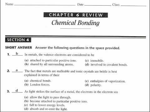 Chem Ch 06 4 Worksheet 02