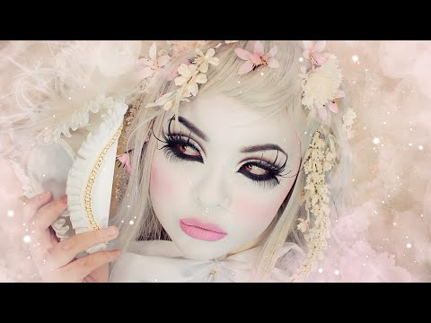 My White Foundation Makeup Routine Full Coverage For Halloween Shironuri Cosplay Etc