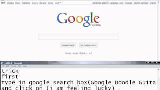 Google Doodle Guitar Trick