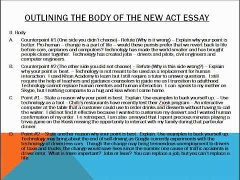 "write act essay Is the test changing the essay task is not changing, and two readers will still be assigning 1-6 scores in four domains act states, ""some language in the."