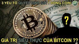 Kiến thức nền tảng Crypto P6 | Giá trị siêu thực của Bitcoin là gì và 3 yếu tố quyết định giá Coin