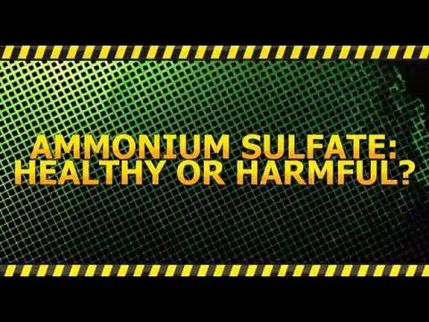Ammonium Sulfate: Healthy or Harmful?