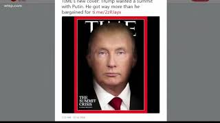 The new Time Magazine cover morphs Vladimir Putin's face with President Trump's face