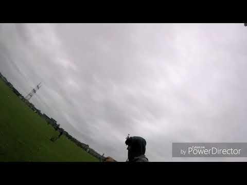 Quadcopter racing training session Barendrecht chrash complications