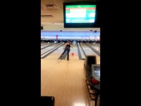 Bowling at Little Creek Naval Base acting crazy, getting a naval officer to wear my clothes bowling