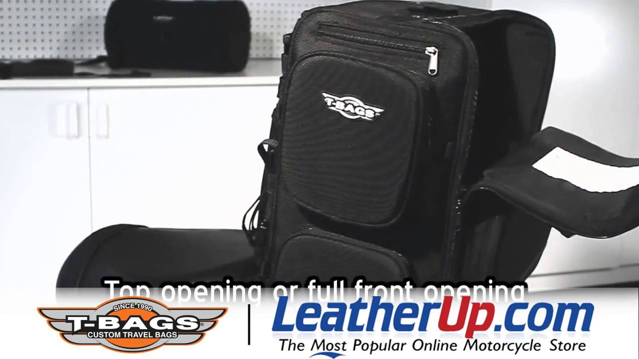 T-Bags LoneStar Touring Travel Bag Set at LeatherUp.com - YouTube