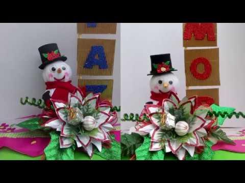 Como hacer un centro de mesa navide o youtube - Como hacer un centro de mesa navideno ...