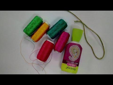 How To Make Rakhi With Silk Thread   CraftLas