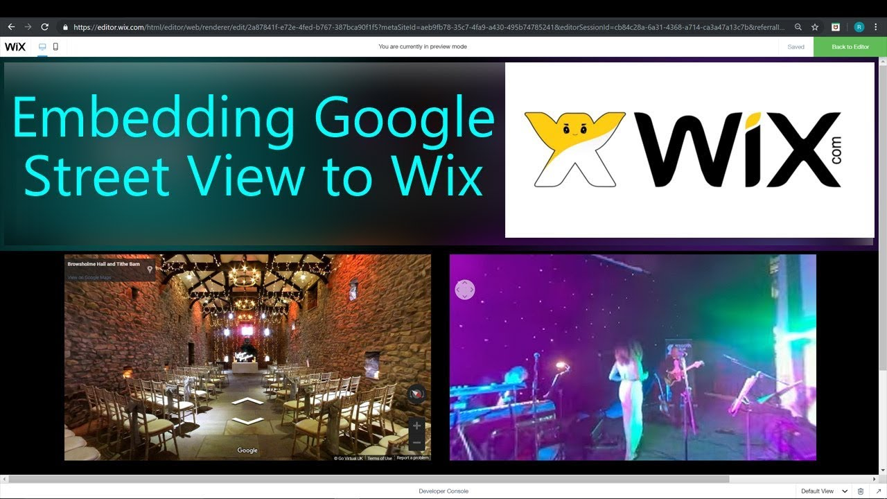 How To Embed Google Maps Street View Into A Wix Website Youtube