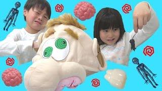 変な顔の中からキモイ物たくさ~ん!!! てさぐりボックス こうくんねみちゃん What's in Ned's Head Family Fun Game Gross Toy thumbnail