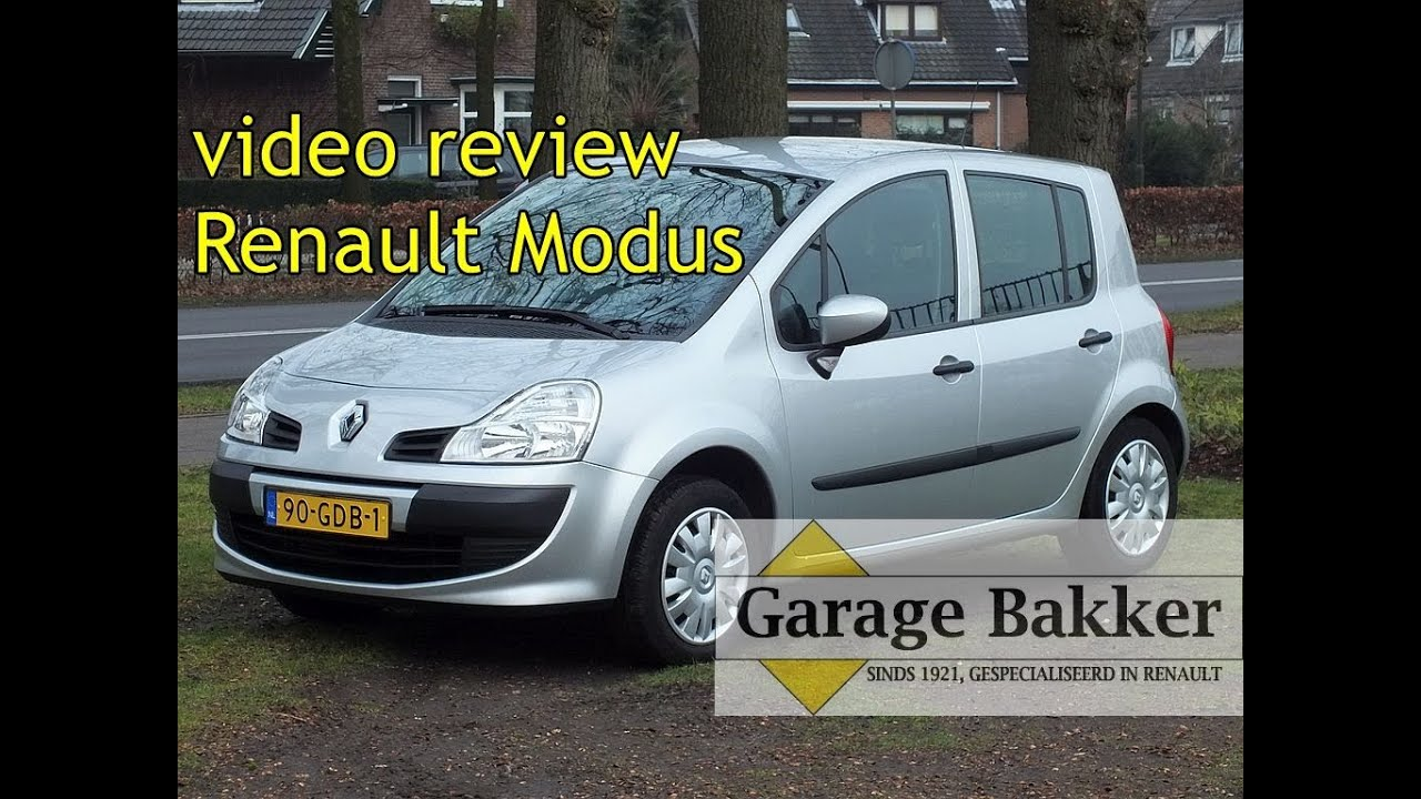 Video review renault modus tce 100 expression 2008 90 for Garage ad chateau renault