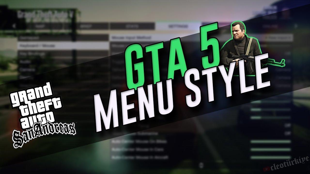 NEW GTA V MENU STYLE #244 Gta San Andreas   Kurulum   Oynanış