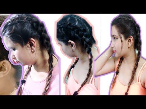 CUTE Everyday Braid Hairstyles For Greasy Oily Scalp & Hair / Medium Hairstyles – Aarti Chopra