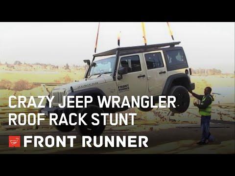 CRAZY JEEP WRANGLER ROOF RACK STUNT