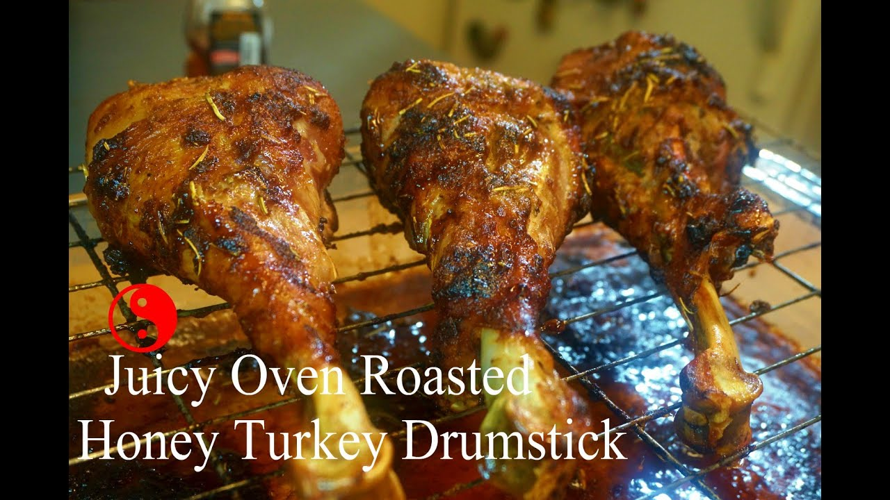 How To Make Juicy Oven Roasted Honey Turkey Drumstick