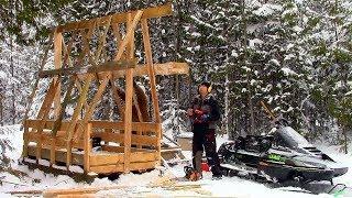 Mobile Winter Shelter- Log Cabin Update- Ep 10.2