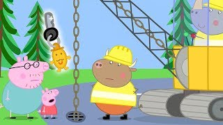 Peppa Pig English Episodes | Dig up the Road to Find Daddy Pig's Keys | Cartoons for Kids