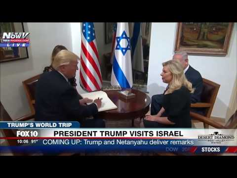 FNN: Trump and Melania Arrive at Prime Minster's Residence in Israel, Greeted by Netanyahu & Wife