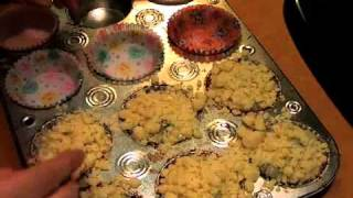 Homemade Blueberry Muffin Recipe - Adding Crumble Topping for Blueberry Muffins - Video.mp4