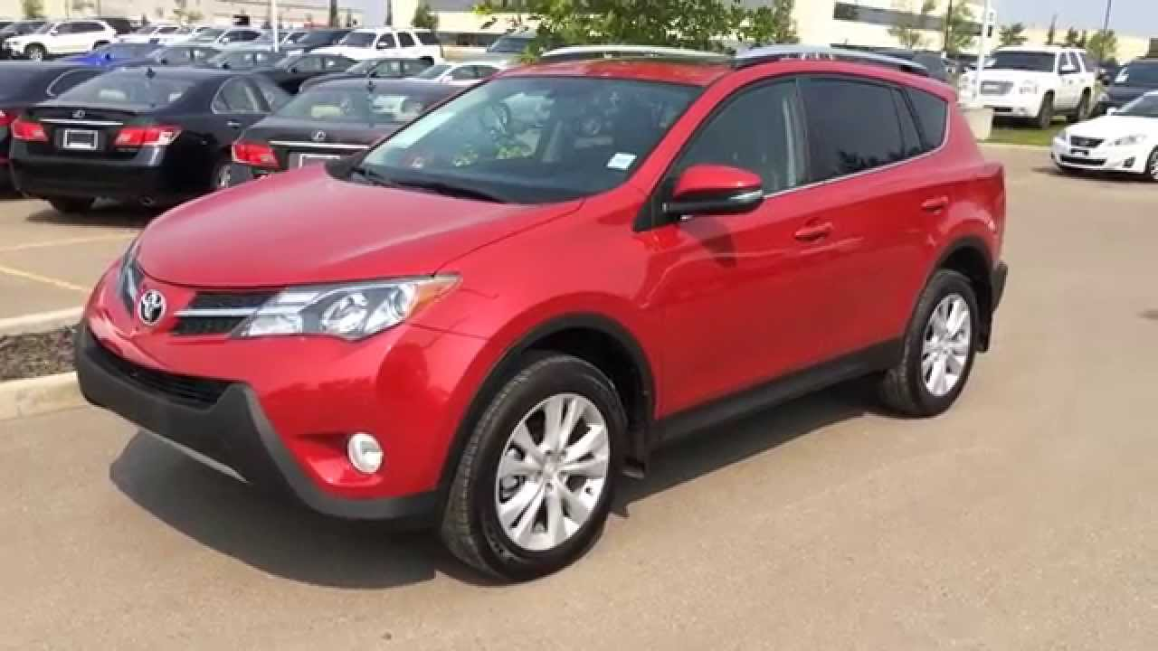 Pre Owned Red 2013 Toyota Rav4 Awd Limited Calgary Red