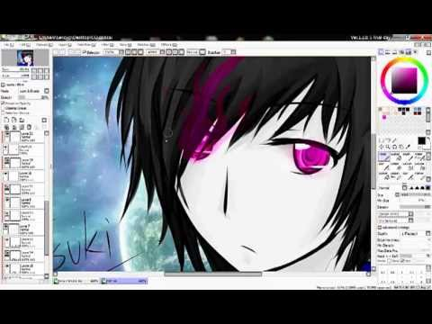 [Tanuuki_Psyche]สอนวาดรูปด้วยโปรแกรม SAI #How to draw SAI