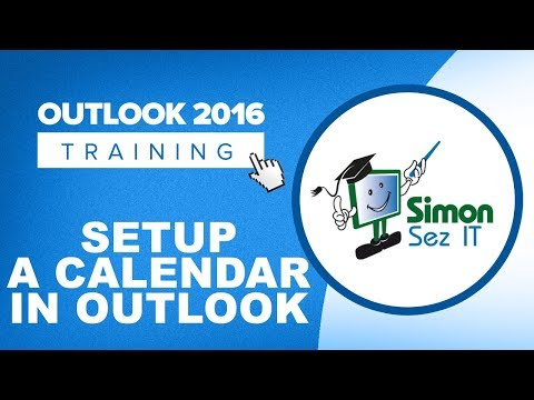 How to Setup a Calendar in Outlook 2016