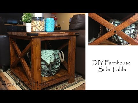 DIY Farmhouse Side Table