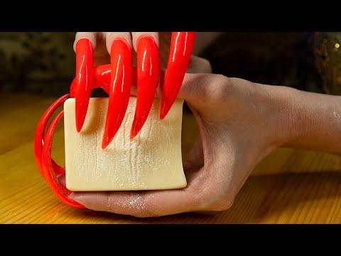 CUTTING & CARVING SOAP ASMR NAIL TAPPING SCRATCHING ASMR NO TALKING