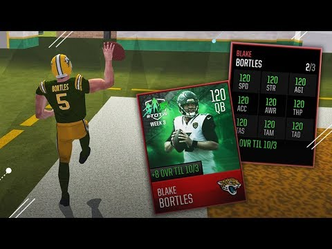 120 OVERALL GLITCHED BLAKE BORTLES! MADDEN MOBILE 18 GAMEPLAY!