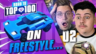 ON FREESTYLE EN GAMES DE PLACEMENTS ft @D7.| ROAD TO TOP 100 2V2 | S1E2 (ROCKET LEAGUE FR)