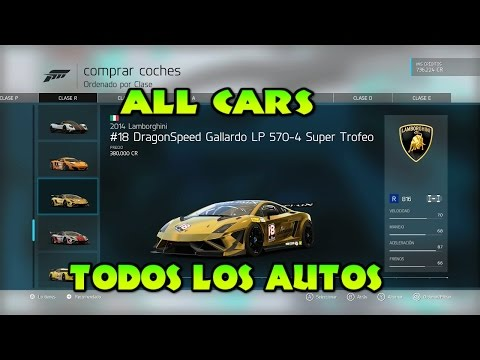 FORZA MOTORSPORT 6 TODOS LOS AUTOS DEL JUEGO/ALL CARS IN THE GAME