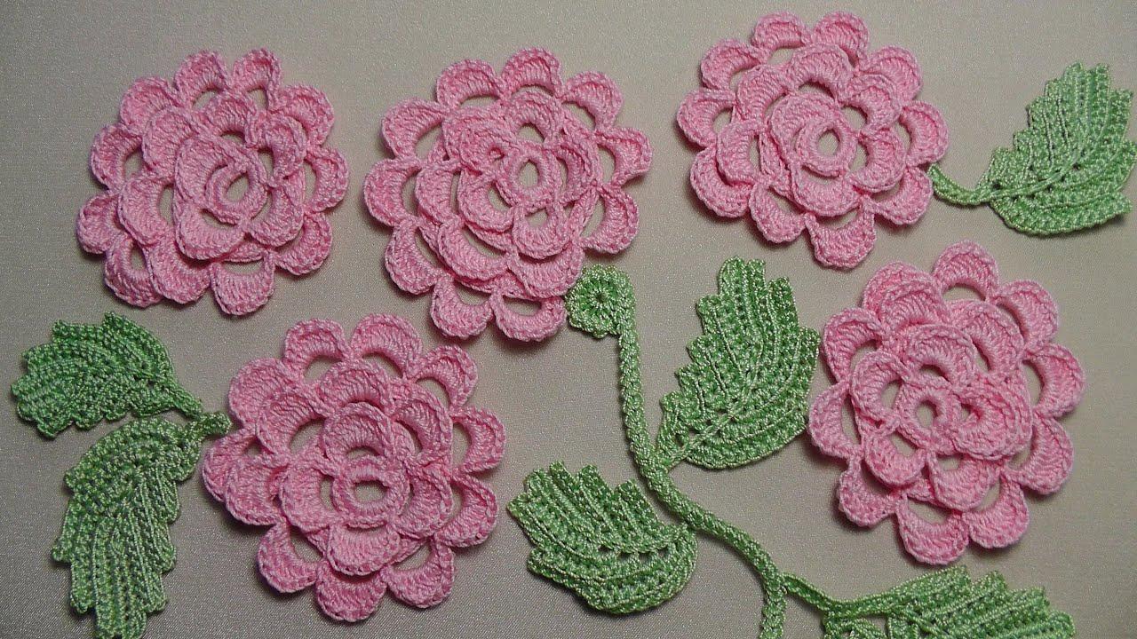 Розы плоские крючком схемы