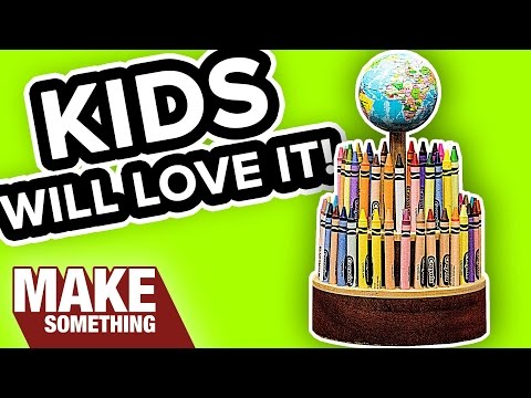 How to Make a Rotating Crayon Holder | Easy Woodworking Project