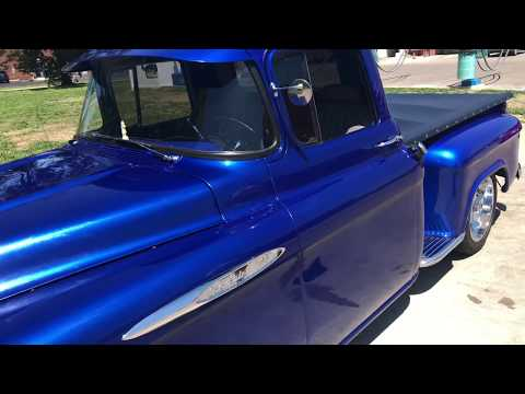 1957 Chevrolet  Pickup truck review V8 458 block 390hp -turbo 400 transmission